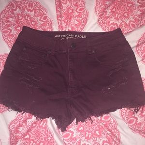 Burgundy Shorts 😍